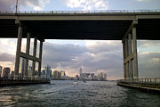 Cranes And Derricks Etc. Art - Downtown Miami skyline by Raul Touzon