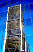 Building Reflections Prints - Downtown Montreal Print by Juergen Weiss