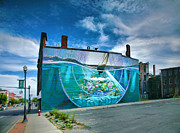 Finger Lakes Photos - Downtown Mural I by Steven Ainsworth