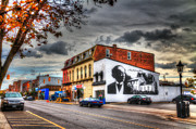 Yellows Framed Prints Prints - Downtown Napanee Mural Print by John Herzog