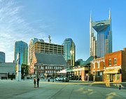 Urban Buildings Posters - Downtown Nashville III Poster by Steven Ainsworth