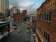 Nashville Downtown Prints - Downtown Nashville Scene Print by Steven  Michael