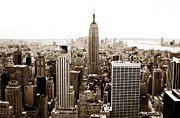 New York City Prints - Downtown New York City Print by John Rizzuto
