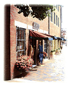 Downtown Newburyport Print by Anthony Ross