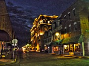 City Streets Photo Originals - Downtown Nocturne by William Fields