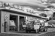 Machinery Photo Posters - Downtown Northampton - Harolds Garage Poster by HD Connelly