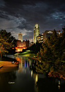 Jeff Swanson Metal Prints - Downtown Omaha Metal Print by Jeff Swanson