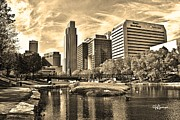 Jeff Swanson Metal Prints - Downtown Omaha Nebraska Metal Print by Jeff Swanson