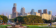Benjamin Franklin Parkway Photos - Downtown Philadelphia Skyline by Olivier Le Queinec