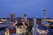High Rise Prints - Downtown San Antonio at Night Print by Jeremy Woodhouse