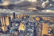 San Francisco Skyline Digital Art Prints - Downtown San Francisco Print by Ariane Moshayedi