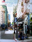 Sanfrancisco Paintings - Downtown San Francisco by V  Reyes