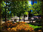Park Benches Photos - Downtown Seattle Park by Joan  Minchak