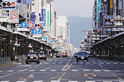 Crosswalk Prints - Downtown Street in Japan Print by Jeremy Woodhouse