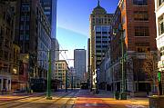 Streets Metal Prints - Downtown Sunday Morning In February Metal Print by Don Nieman