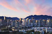 Office Space Prints - Downtown Vancouver Skyline at Dusk Print by Jeremy Woodhouse