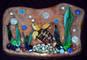 Stone Glass Art - DownUnder by Sheri Thrift Roberson