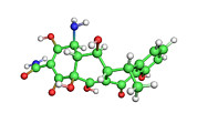 Biochemical Art - Doxycycline Antibiotic Molecule by Dr Tim Evans
