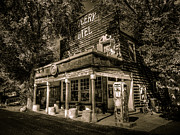 Americana Landscape Prints - Doyle Grocery and Hotel Print by Scott McGuire