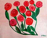 Greeting Paintings - Dozen Roses by Buddy Paul