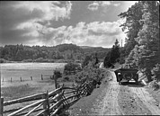 Dirt Roads Photos - Dr. Alexander Graham Bell And An by Bell Collection
