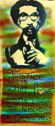 Protest Painting Metal Prints - Dr. Cornel West JUSTICE Metal Print by Tony B Conscious