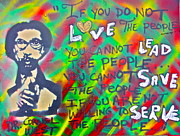 Democrat Painting Framed Prints - Dr. Cornel West  LOVE THE PEOPLE Framed Print by Tony B Conscious