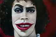Red Lips Drawings - Dr. Frank-N-Furter by Kalie Hoodhood