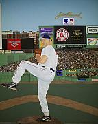 Fenway Park Painting Framed Prints - Dr. Hoss Framed Print by Sandra Poirier