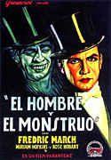 Spanish Poster Art Posters - Dr. Jekyll And Mr. Hyde, Aka El Hombre Poster by Everett