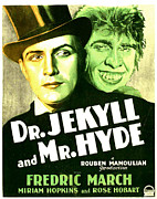 Monster Movies Framed Prints - Dr. Jekyll And Mr. Hyde, Poster Art Framed Print by Everett