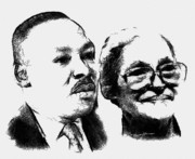 Martin Luther King Digital Art - Dr. King and Mrs. Parks by Anthony Caruso