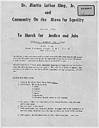 Martin Luther King Jr Posters - Dr. King Memphis March -- For Justice and Jobs Poster by David Bearden