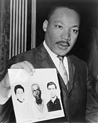 Race Discrimination Prints - Dr. Martin Luther King 1929-1968 Print by Everett