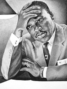 African-american Drawings - Dr. Martin Luther King by Elizabeth Scism