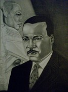 Martin Luther King Jr Drawings Prints - Dr. Martin Luther King Jr. Print by Handy