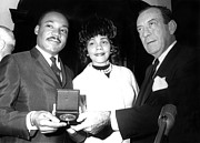 Award Framed Prints - Dr. Martin Luther King Jr., With Wife Framed Print by Everett