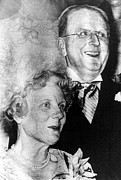 Peale Posters - Dr. Norman Vincent Peale, And Wife Poster by Everett