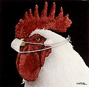Chickens Paintings - Dr. Pecker... by Will Bullas