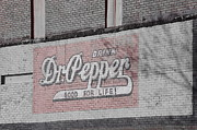 Outdoors Prints - Dr Pepper Vintage Signage Print by Deniece Platt