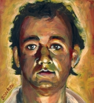Movies Painting Originals - Dr. Peter Venkman by Buffalo Bonker