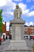 United Kingdom Framed Prints - Dr Samuel Johnson Statue - Lichfield Framed Print by Rod Johnson