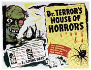 Horror Movies Framed Prints - Dr. Terrors House Of Horrors, Title Framed Print by Everett