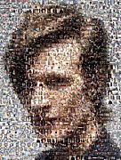 Dr. Who Posters - Dr. Who Mosaic Poster by Paul Van Scott