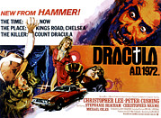 Horror Car Posters - Dracula A.d. 1972, Stephanie Beacham Poster by Everett