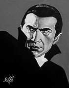 Classic Horror Framed Prints - Dracula Framed Print by Tom Carlton