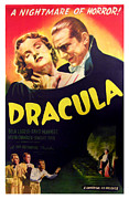 1930s Movies Posters - Dracula, Top From Left Helen Chandler Poster by Everett