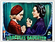 Lobbycard Prints - Draculas Daughter, From Left Nan Grey Print by Everett