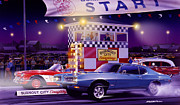 Race Metal Prints - Drag City Metal Print by Bruce Kaiser