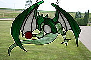 One Of A Kind Glass Art - Dragon Attack by Hartz